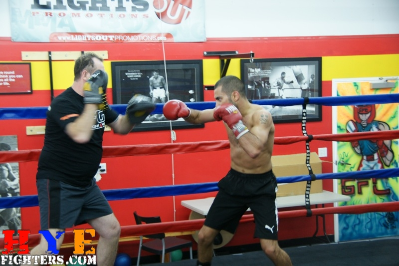 Mitt work after sparring