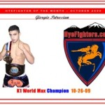HyeFighter of the month for October 2009: Giorgio Petrosyan