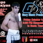HyeFighter Tolmajyan in Action on October 1st.