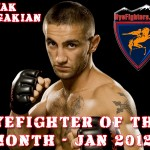 HyeFighter Of The Month: January 2012 - Sevak Magakian