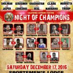 CXF 5 - Night Of Champions This Saturday in Los Angeles December 17th
